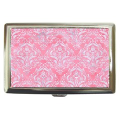 Damask1 White Marble & Pink Watercolor Cigarette Money Cases