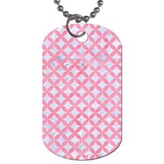 Circles3 White Marble & Pink Watercolor (r) Dog Tag (two Sides) by trendistuff