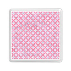 Circles3 White Marble & Pink Watercolor (r) Memory Card Reader (square)  by trendistuff