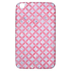 Circles3 White Marble & Pink Watercolor (r) Samsung Galaxy Tab 3 (8 ) T3100 Hardshell Case  by trendistuff