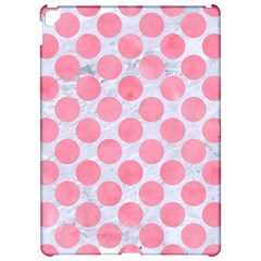 Circles2 White Marble & Pink Watercolor (r) Apple Ipad Pro 12 9   Hardshell Case