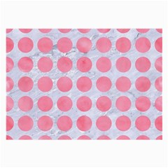 Circles1 White Marble & Pink Watercolor (r) Large Glasses Cloth (2 Side) by trendistuff