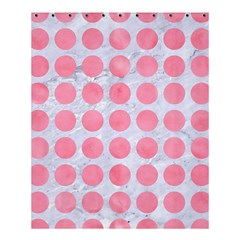 Circles1 White Marble & Pink Watercolor (r) Shower Curtain 60  X 72  (medium)  by trendistuff