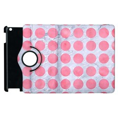 Circles1 White Marble & Pink Watercolor (r) Apple Ipad 2 Flip 360 Case by trendistuff
