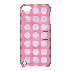 Circles1 White Marble & Pink Watercolor Apple Ipod Touch 5 Hardshell Case With Stand by trendistuff