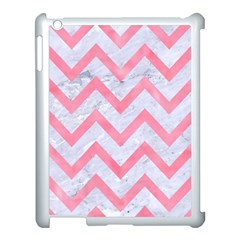 Chevron9 White Marble & Pink Watercolor (r) Apple Ipad 3/4 Case (white) by trendistuff