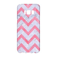 Chevron9 White Marble & Pink Watercolor (r) Samsung Galaxy S8 Hardshell Case