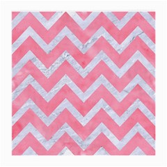 Chevron9 White Marble & Pink Watercolor Medium Glasses Cloth by trendistuff