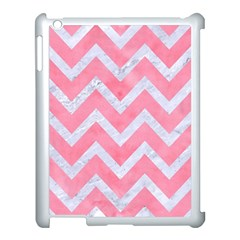 Chevron9 White Marble & Pink Watercolor Apple Ipad 3/4 Case (white)