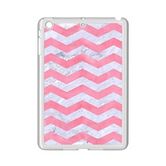 Chevron3 White Marble & Pink Watercolor Ipad Mini 2 Enamel Coated Cases by trendistuff