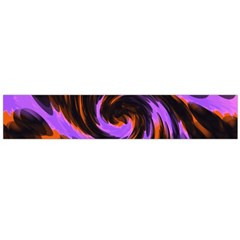 Swirl Black Purple Orange Large Flano Scarf  by BrightVibesDesign