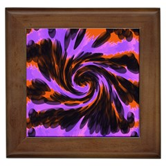 Swirl Black Purple Orange Framed Tiles by BrightVibesDesign