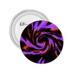 Swirl Black Purple Orange 2 25  Buttons by BrightVibesDesign