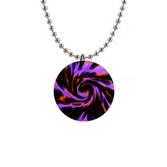 Swirl Black Purple Orange Button Necklaces by BrightVibesDesign