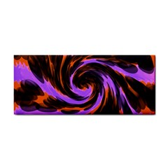 Swirl Black Purple Orange Hand Towel by BrightVibesDesign