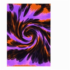 Swirl Black Purple Orange Small Garden Flag (two Sides) by BrightVibesDesign