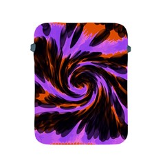 Swirl Black Purple Orange Apple Ipad 2/3/4 Protective Soft Cases by BrightVibesDesign