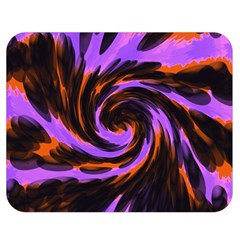 Swirl Black Purple Orange Double Sided Flano Blanket (medium)  by BrightVibesDesign