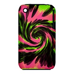Swirl Black Pink Green Iphone 3s/3gs by BrightVibesDesign