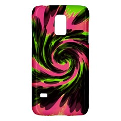 Swirl Black Pink Green Galaxy S5 Mini by BrightVibesDesign
