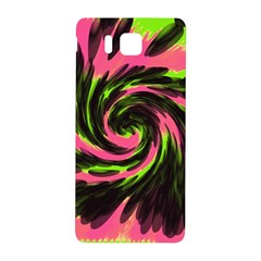 Swirl Black Pink Green Samsung Galaxy Alpha Hardshell Back Case by BrightVibesDesign