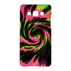 Swirl Black Pink Green Samsung Galaxy A5 Hardshell Case  by BrightVibesDesign