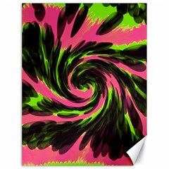 Swirl Black Pink Green Canvas 18  X 24   by BrightVibesDesign