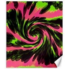 Swirl Black Pink Green Canvas 20  X 24   by BrightVibesDesign