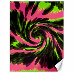 Swirl Black Pink Green Canvas 36  X 48   by BrightVibesDesign