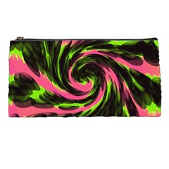 Swirl Black Pink Green Pencil Cases by BrightVibesDesign