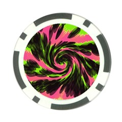 Swirl Black Pink Green Poker Chip Card Guard (10 Pack) by BrightVibesDesign