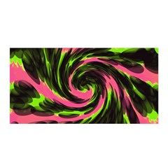 Swirl Black Pink Green Satin Wrap by BrightVibesDesign