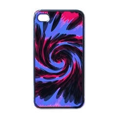 Swirl Black Blue Pink Apple Iphone 4 Case (black) by BrightVibesDesign