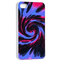 Swirl Black Blue Pink Apple Iphone 4/4s Seamless Case (white) by BrightVibesDesign