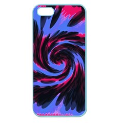 Swirl Black Blue Pink Apple Seamless Iphone 5 Case (color) by BrightVibesDesign