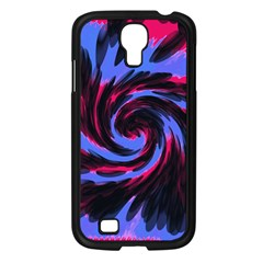 Swirl Black Blue Pink Samsung Galaxy S4 I9500/ I9505 Case (black) by BrightVibesDesign