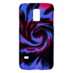 Swirl Black Blue Pink Galaxy S5 Mini by BrightVibesDesign