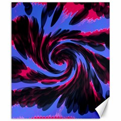 Swirl Black Blue Pink Canvas 8  X 10  by BrightVibesDesign