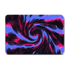 Swirl Black Blue Pink Small Doormat  by BrightVibesDesign