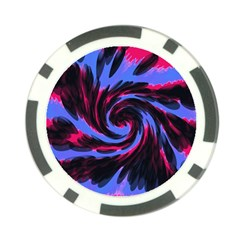 Swirl Black Blue Pink Poker Chip Card Guard (10 Pack) by BrightVibesDesign