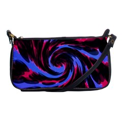 Swirl Black Blue Pink Shoulder Clutch Bags by BrightVibesDesign