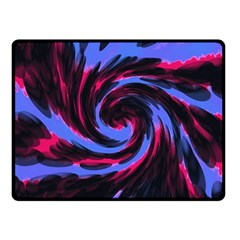 Swirl Black Blue Pink Fleece Blanket (small) by BrightVibesDesign