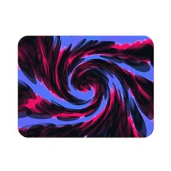 Swirl Black Blue Pink Double Sided Flano Blanket (mini)  by BrightVibesDesign