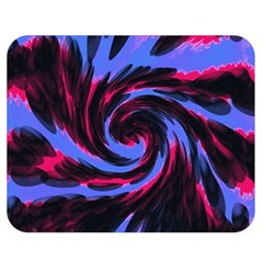 Swirl Black Blue Pink Double Sided Flano Blanket (medium)  by BrightVibesDesign
