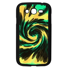 Swirl Black Yellow Green Samsung Galaxy Grand Duos I9082 Case (black) by BrightVibesDesign
