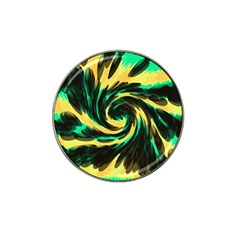 Swirl Black Yellow Green Hat Clip Ball Marker (4 Pack) by BrightVibesDesign