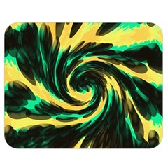 Swirl Black Yellow Green Double Sided Flano Blanket (medium)  by BrightVibesDesign