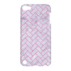 Brick2 White Marble & Pink Watercolor (r) Apple Ipod Touch 5 Hardshell Case by trendistuff