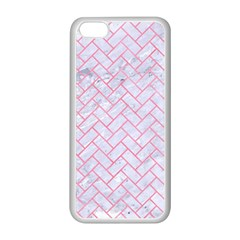 Brick2 White Marble & Pink Watercolor (r) Apple Iphone 5c Seamless Case (white) by trendistuff