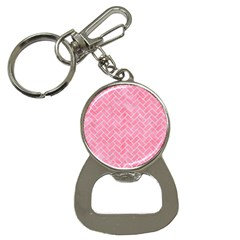 Brick2 White Marble & Pink Watercolor Bottle Opener Key Chains by trendistuff